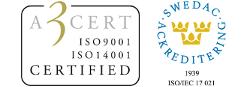VISAB a3-certifiering